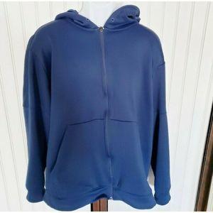 Adidas navy blue full zip hoodie sweatshirt 3XL